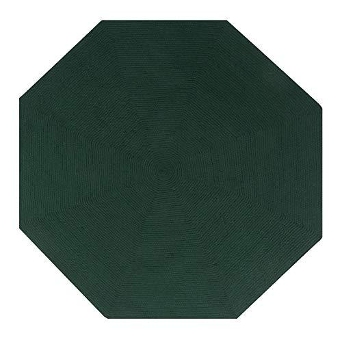 Better Trends Alpine Braid Collection ist langlebig und schmutzabweisend, wendbar, für den Innenbereich, 100 % Polypropylen, in leuchtenden Farben, 243,8 cm, achteckig, Hunter Solid