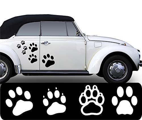 WERBUNGkreativ 20 x Pfoten Aufkleber Pfotenaufkleber Pfötchen Autoaufkleber Hundepfoten Farb+Motivwahl Pfotenset in 33 Farben matt oder glänzend