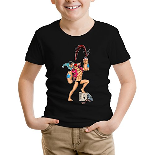 T-Shirt Enfant Noir One Piece - Popeye parodique Franky et Popeye : Suuuupppeeerr COLA !!! (Parodie One Piece - Popeye)