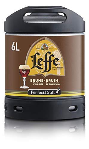 Cerveza PerfectDraft un barril de 6 litros de Leffe Brune - Brown Ale. Máquina de tiro casera. Incluye un depósito de 5 euros.