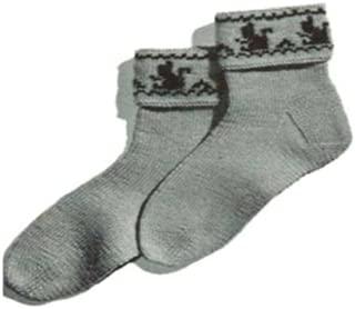 #1690 SQUIRREL-CUFF SOCKS VINTAGE KNITTING PATTERN