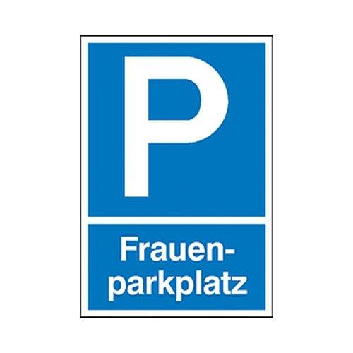 Schild Symbol: P, Text: Frauenparkplatz Parkplatz-Schild Größe: 25,0 x 40,0cm PVC