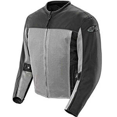 Joe Rocket Men's Velocity Mesh Motorcycle Jacket (Grey, Large)