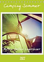 Camping Sommer - Zelten Grillen Lagerfeuer (Tischkalender 2022 DIN A5 hoch): Glueckliche Abenteuer. (Planer, 14 Seiten )