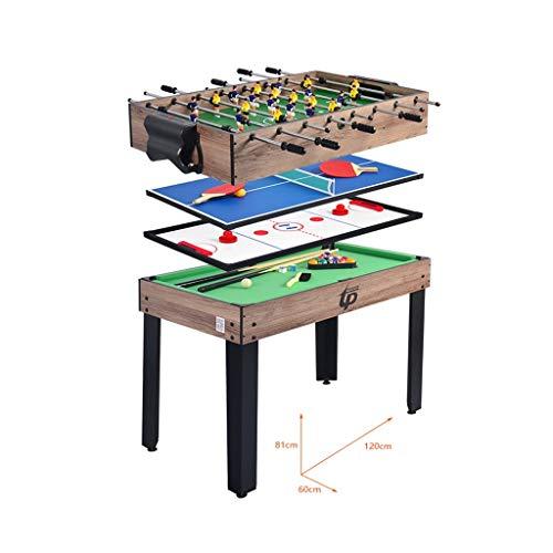LCRACK 4-in-1-Kombitisch Mit Mehreren Funktionen, Eishockey, Tischfußball, Billardtisch, Tischtennis Tisch