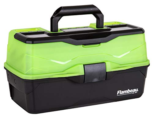 Flambeau Outdoors 6383FG 3-Tray - Classic Tray Tackle Box - Frost Green/Black