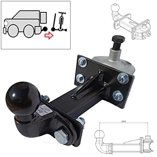 Universelle Hakenverlängerung für Fahrradträger für jedes Typen Anhängerkupplung - 250 mm - inkl. Steckkupplung AHK ISO50