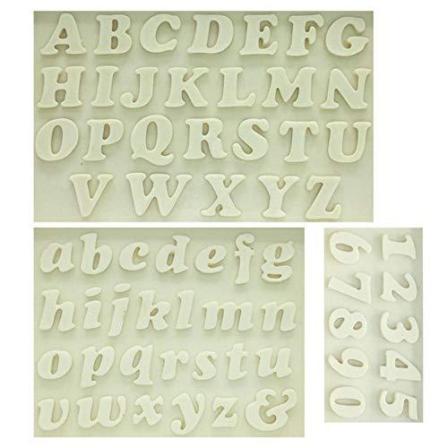 SJYM 1 stks Letter/Nummer siliconen mal fondant schimmel taart decoreren gereedschappen chocoladevorm Keuken bakvorm, 3 stuks