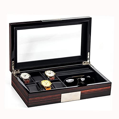 SMOOTHLY Caja de Reloj con Cubierta de Vidrio, Pulsera de joyería, Caja de Almacenamiento de Reloj, Fuerte, Duradero, no Oxidado