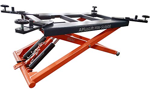 APlusLift HW-SL6600 Mid Rise 6,600LB Auto Scissor Lift 110V / 5 Year Structural...
