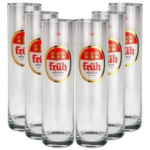 Früh Kölsch Biergläser/Gläser/Stangen Set - 6X 0,4l