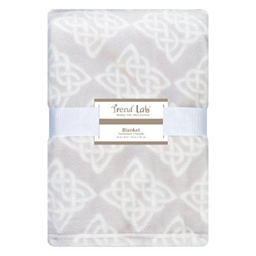 Celtic Knot Plush Baby Blanket Gray