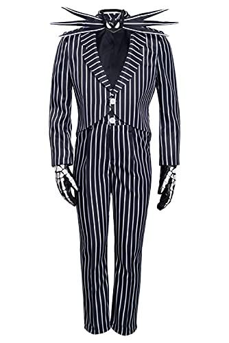 Enhopty Disfraz de esqueleto calabaza Nightmare Skellington para Halloween Carnival,...