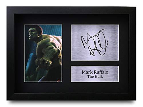 HWC Trading Mark Ruffalo A4 Gerahmte Signiert Gedruckt Autogramme Bild Druck-Fotoanzeige Geschenk Für The Hulk The Avengers Filmfans