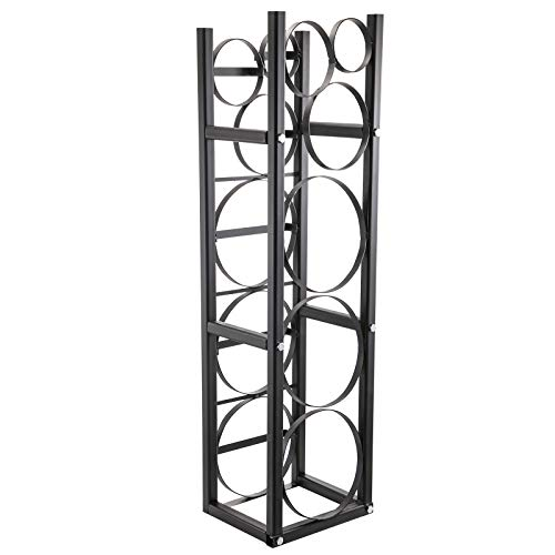 BestEquip Refrigerant Tank Rack with 3-30lb and Other 3 Saving Space, Cylinder Tank Rack 46x13x4-inch, Refrigerant Cylinder Rack Gas Cylinder Racks and Holders, for Gas Oxygen Nitrogen Storage