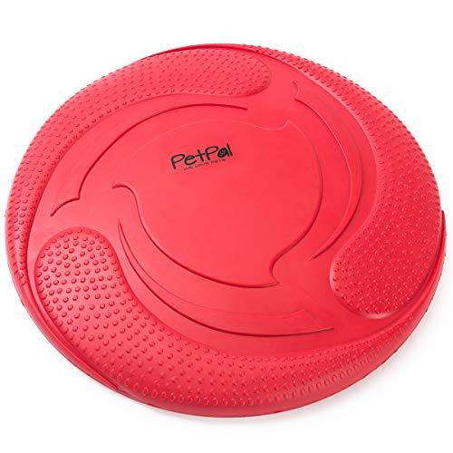 PetPäl Hunde Frisbee Naturkautschuk Schwimmend - Gummispielzeug aus Naturgummi Ø 23cm - Wasserspielzeug & Schwimmspielzeug für Große & Kleine Hunde
