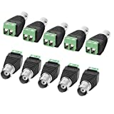 AUXcell 10 Pcs Screw Terminal Coaxial Cat5 to BNC Female Video Balun Connector