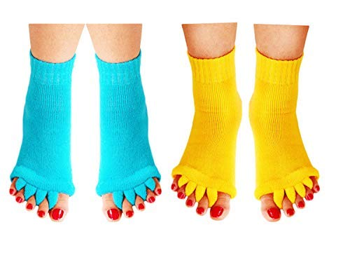 Homrap Toe Separator Yoga Gym Sports Massage Foot...