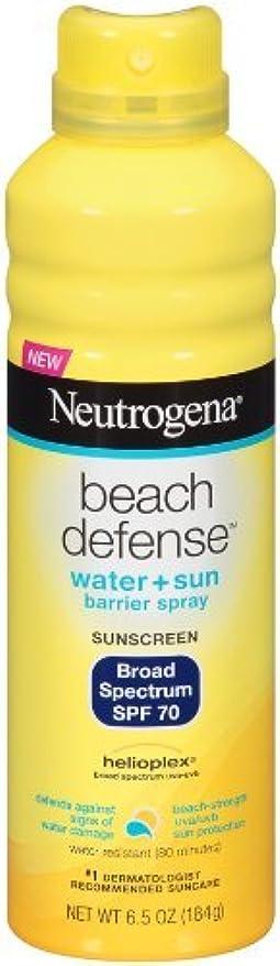 自己尊重ピニオン不測の事態Neutrogena Beach Defense ニュートロジーナサンスクリーンスプレー SPF70 180g 並行輸入品