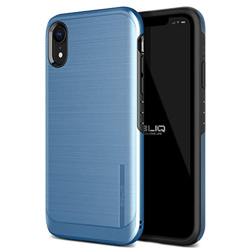 OBLIQ iPhone XR Case, [Slim Meta] Slim Dual Layered Case, Inner TPU with Outer PC with a Metallic Brushed Finish Design and Anti-Shock Technology for The Apple iPhone XR (2018) (Coral Blue)