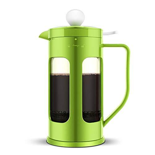 Caffettiere a pistone French Press Pot Grande capacità dell'Ufficio di plastica caffè Dispenser Coffee Pot cafetieres (Colore : Verde, Size : 1000ml)