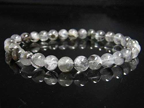 イチオシ 現品一点物 プラチナルチル ブレスレット 白金水晶 数珠 7ミリ 15g Pr55 シラー 虹入水晶 クォーツ ルチル メンズ レディース 1点物 プレゼント 贈り物