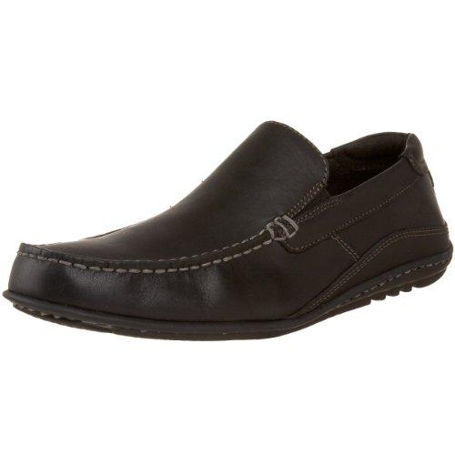 Rockport Men's Cape Noble Driving Shoe- Black Leather-12  M
