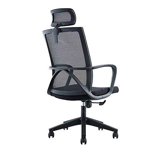 HUAHUA Sedia da ufficio Mesh sedia da ufficio, sedia da ufficio ergonomica, poggiatesta regolabile, back office sedia da lavoro di computer ad alta, rotazione di 360 ° adatto Compatible with la casa e