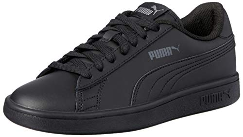 PUMA Smash V2 Leather, Baskets Mixte, Black Black, 42...
