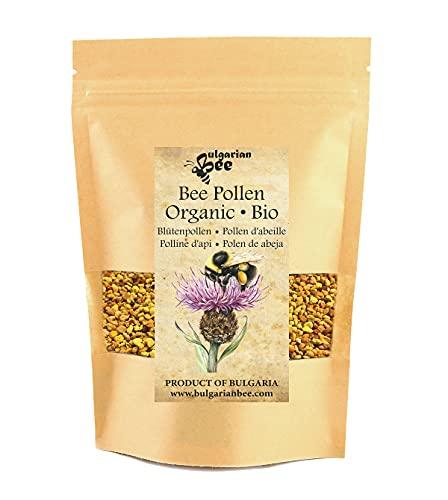 500 g de polen de abeja orgánico recolectado de las flores y hierbas silvestres del bosque, la flora virgen búlgara más variada