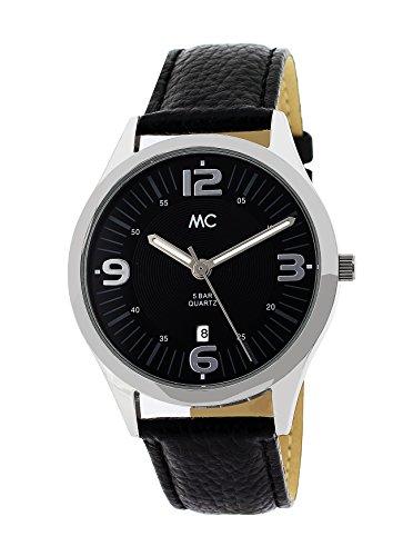 MC Timetrend Herren-Armbanduhr Edelstahl Analog Quarz Leder 27709