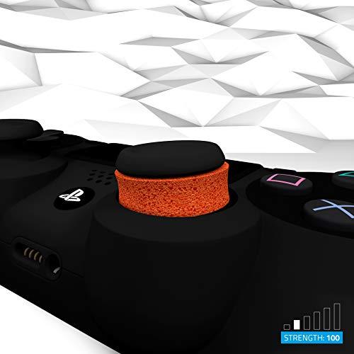 GAIMX CURBX Probierset in 6 Stärken – Premium Stoßdämpfer für Thumbstick – Zielhilfe für PS4, PS5, Xbox und Google Stadia - Analogstick für FPS & 3rd Person Shooter - 9