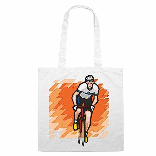 Tasche Umhängetasche Motiv Nr. 4550 Radrennsport Rennrad Mega Sports Hobby Freizeit Einkaufstasche Schulbeutel Turnbeute