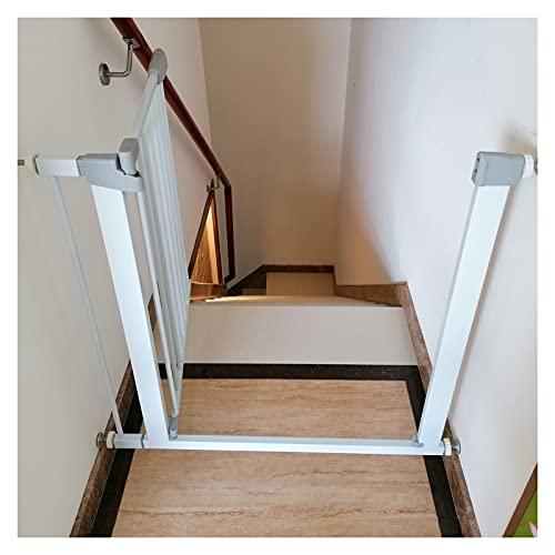 Escaleras Puerta De Seguridad, Perro Valla Divisoria con Ajuste A Presión, Utilizado En Hueco De Escalera Puertas Separar Espacio, Extensible De 76 A 223cm (Color : White, Size : 195cm-202cm)