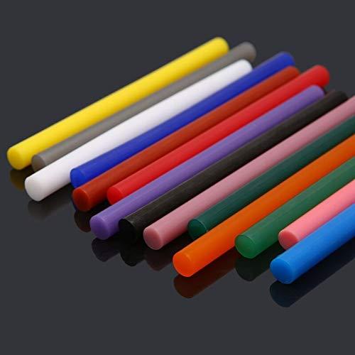 Hot Melt Glue Stick 5Pcs Hot Melt Glue Stick Colorful 7x100mm Adhesive for DIY Craft Toy Repair Tool DLS - (Type: Lgn)