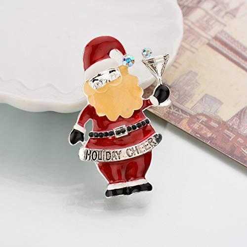 MZFRXZ Brosche Kreative Weihnachtsmann Weihnachtsbäume Socken Hut Socke Strass Broschen Für Frauen Geschenkb164