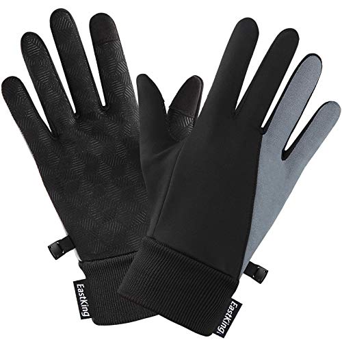 EastKing Winter Cycling Gloves,Anti-slip Touch Screen Gloves Cold Weather Windproof Thermal Warm Gloves Men Women For Cycling Running Outdoor Activities(Large)
