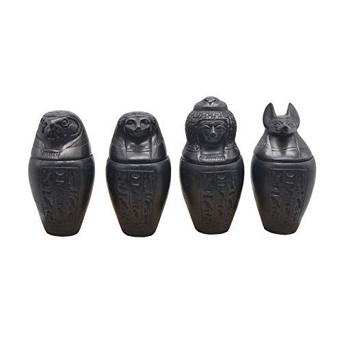 4 Vasos canopes Negros de Piedra Artificial mezclada con Piedra Natural. Están...