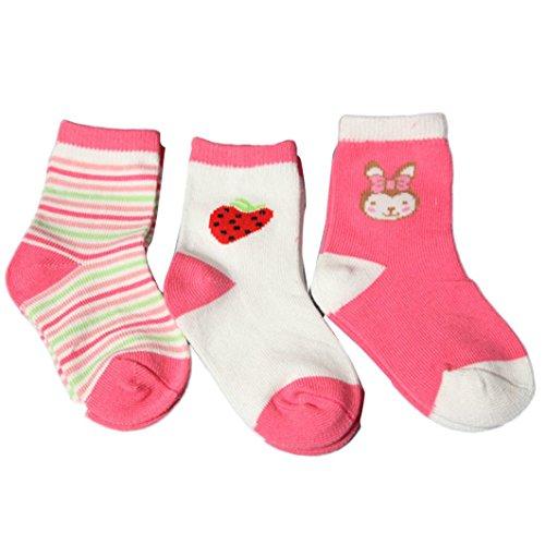 Ouneed® 3 paires 0-2 ans Bebe Enfant Socquette (S)
