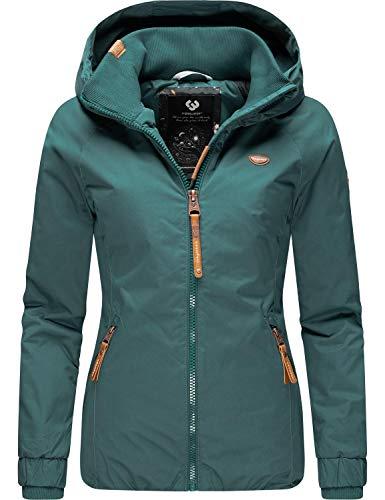 Ragwear Damen Winterjacke Outdoor Funktionsjacke mit Kapuze Dizzie Winter Petrol Gr. XS