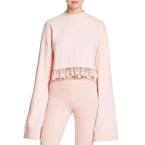 Fenty Puma by Rihanna Womens Cropped Fitness Sweatshirt Pink XL