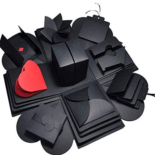 longyisound Caja sorpresa creativa – Caja de explosión, álbum de fotos hecho a mano, regalo para cumpleaños, Navidad, aniversario, día de San Valentín, propuesta de matrimonio, boda, día de la madre