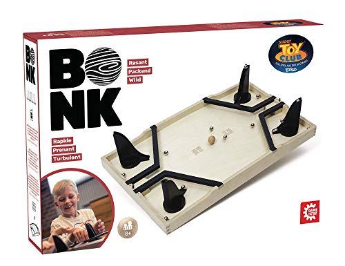 Game Factory 646192 Bonk, das rasante Geschicklichkeitsspiel für Freunde und Familie, Brettspiel für Kinder und Erwachsene
