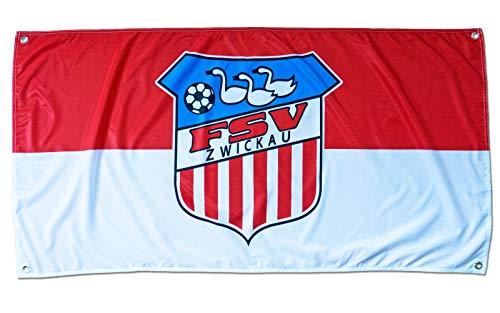FSV Zwickau Fußball Hissfahne Fahne Flagge 140x70 cm Lizenzprodukt
