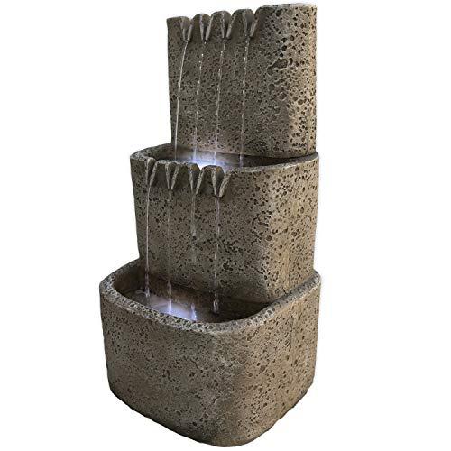Köhko Wasserfall mit LED-Beleuchtung DREI Zinnen Zinnenbrunnen 13016 Wasserspiel