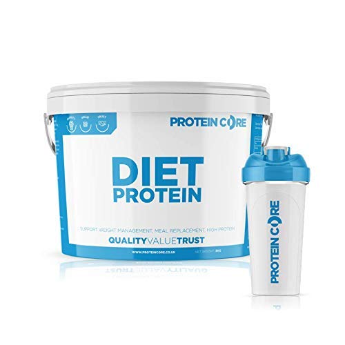 Diet Whey Protein Powder - Free Shaker - Fat Burning Slimming - Lose Weight Fast + Maintain Tone - Meal Replacement Shaker - Green Tea - Taurine - CLA - Protein Core (Vanilla, 5KG)