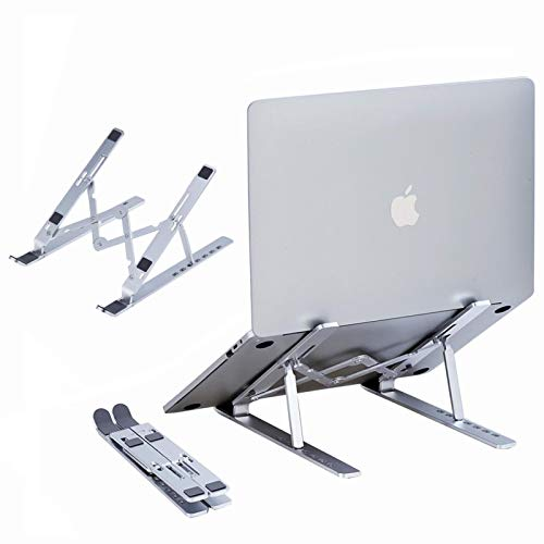 Soporte Portátil, Aluminio Ventilado Refrigeración Soporte Ordenador Portátil Plegable, Adjustable Laptop Stand,...