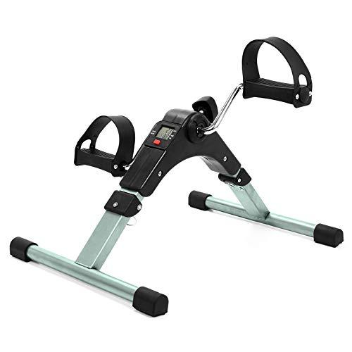 AMAZOM Fitness Faltbar Unter Schreibtisch Übung Fahrradpedal-Training, Medizinisches Klappbares Pedal-Training Mit Elektronischer Anzeige Für Bein- Und Armtraining