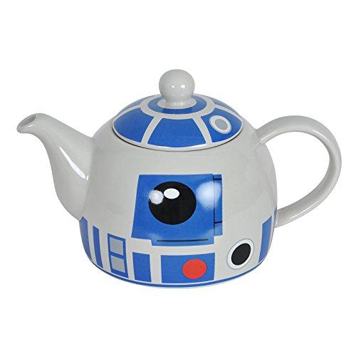 Elbenwald Star Wars R2-D2 Teekanne Iglu-Form beige Keramik 1000ml