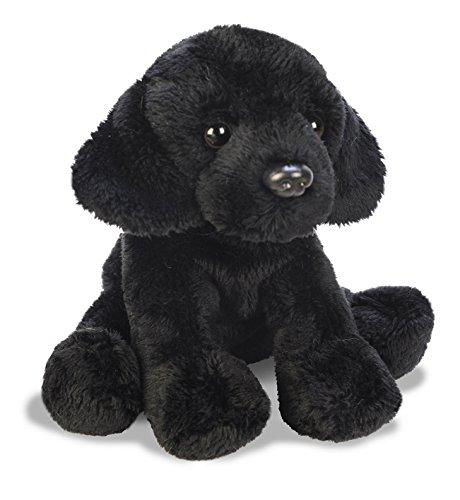 Yomiko 12102 schwarzer sitzender Plüschhund Labrador,13 cm